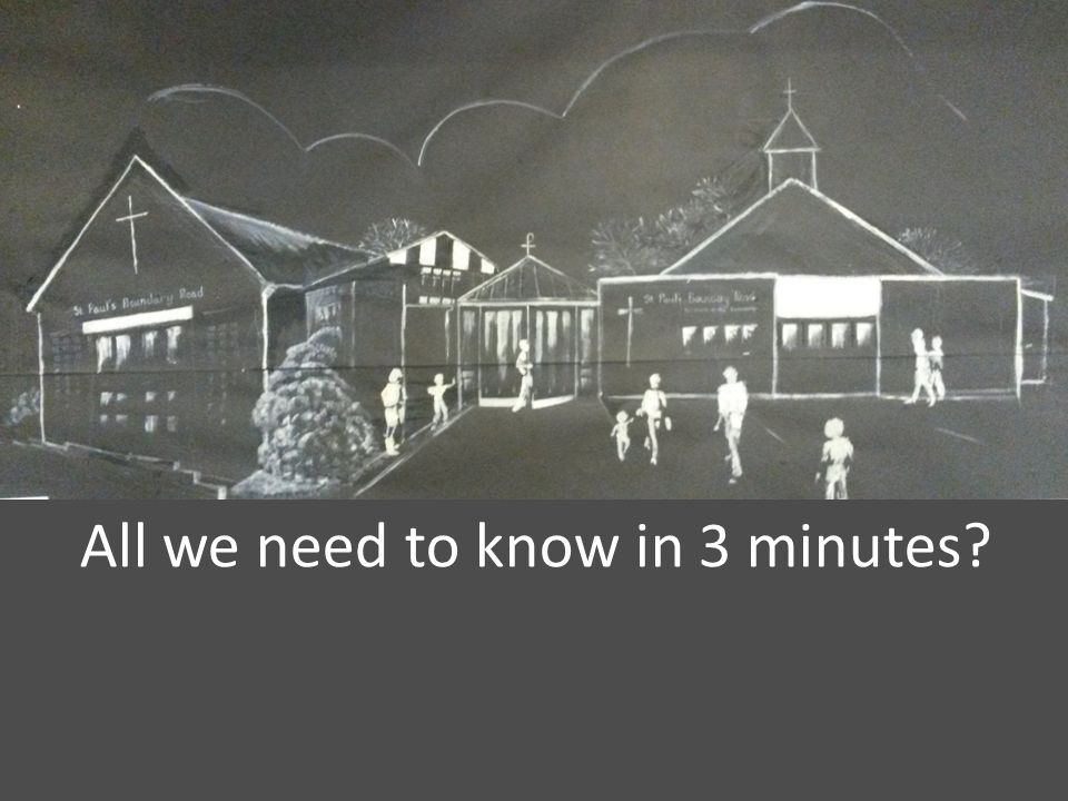 All we need to know in 3 minutes?