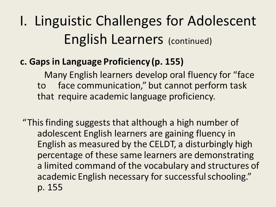 c. Gaps in Language Proficiency (p.