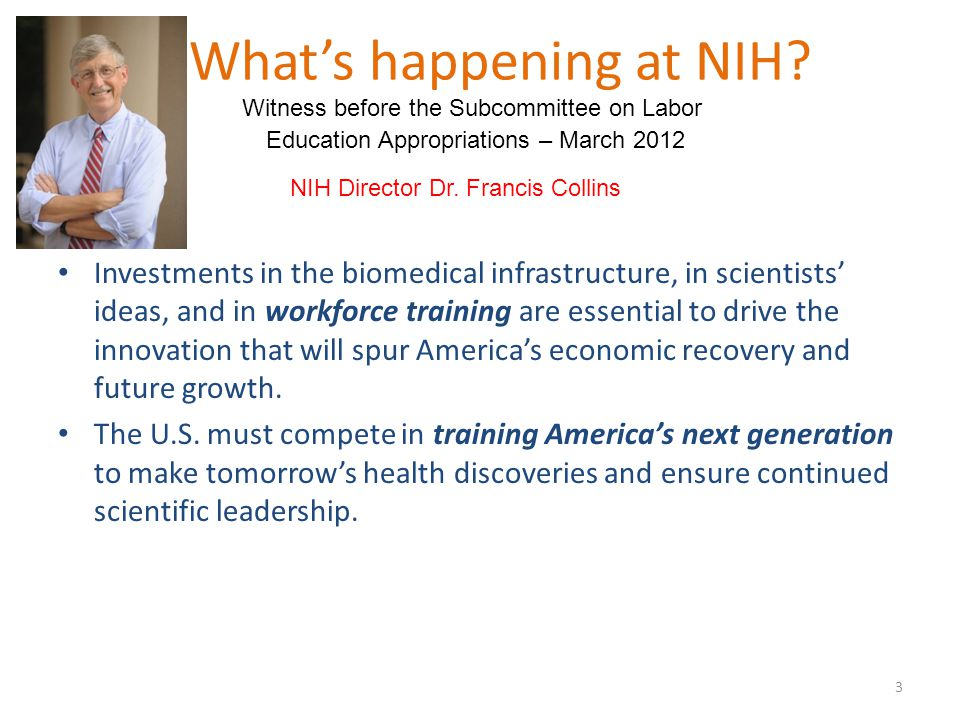 What's happening at NIH.