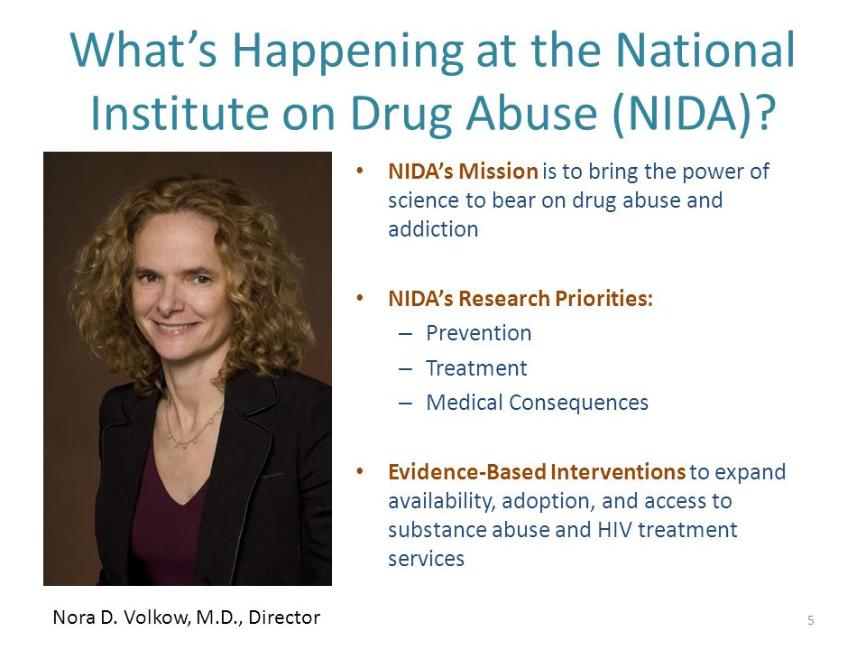 What's Happening at the National Institute on Drug Abuse (NIDA).