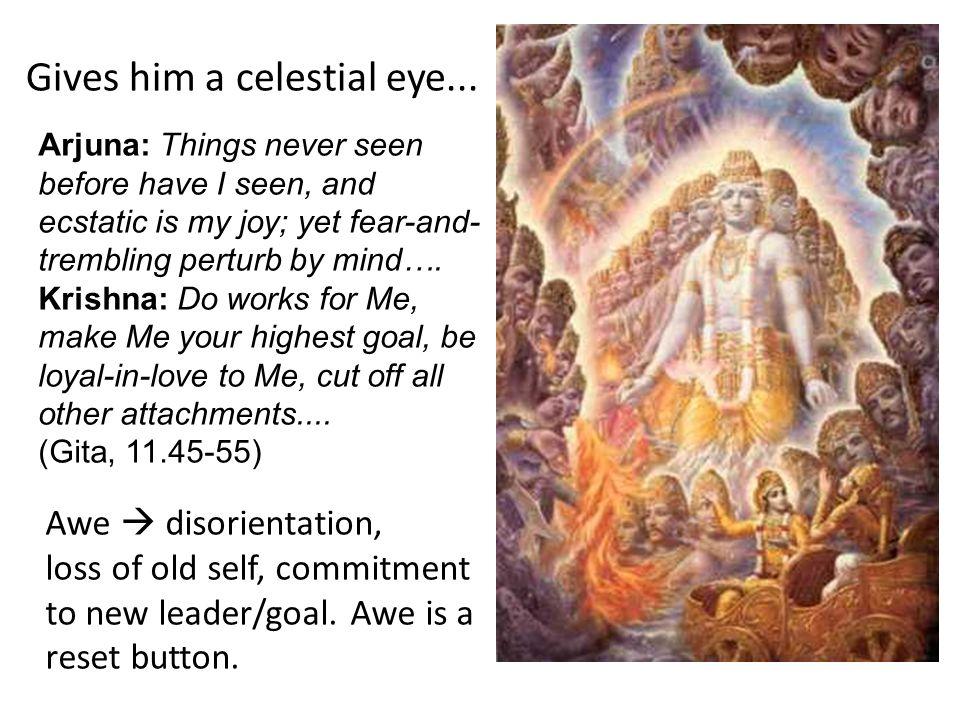 Gives him a celestial eye...