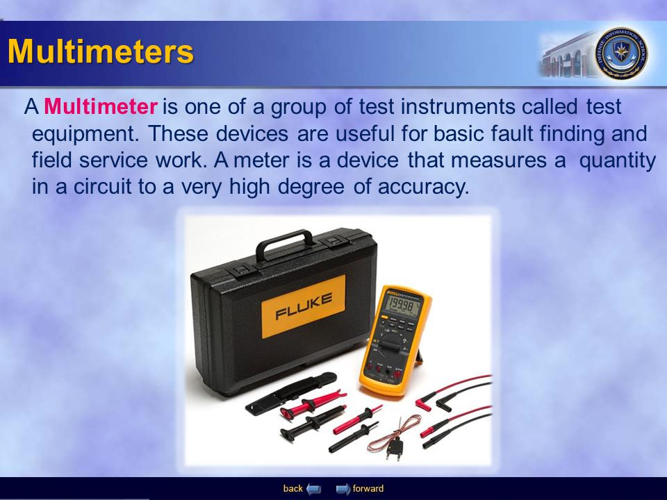 A Multimeter is one of a group of test instruments called test equipment. These devices are useful for basic fault finding and field service work. A m