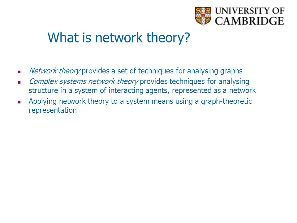 Searchable Networks Watts, Dodds, Newman (2002) show that for d = 2 or 3, real networks are quite searchable.