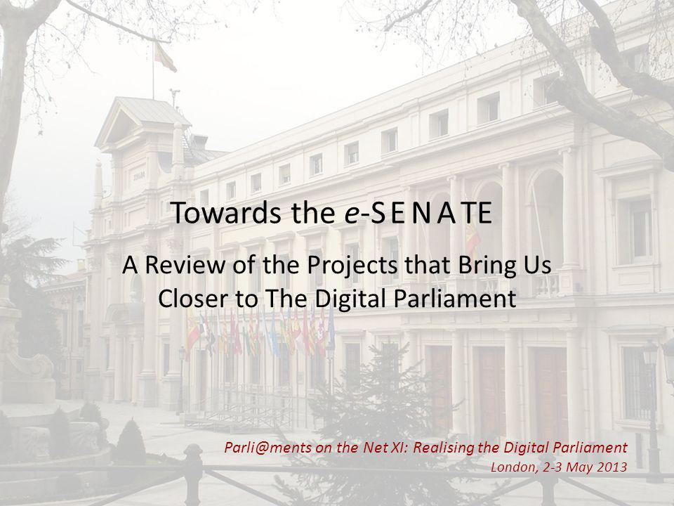 Chronological Evolution The beginning of Parliament's digital management.