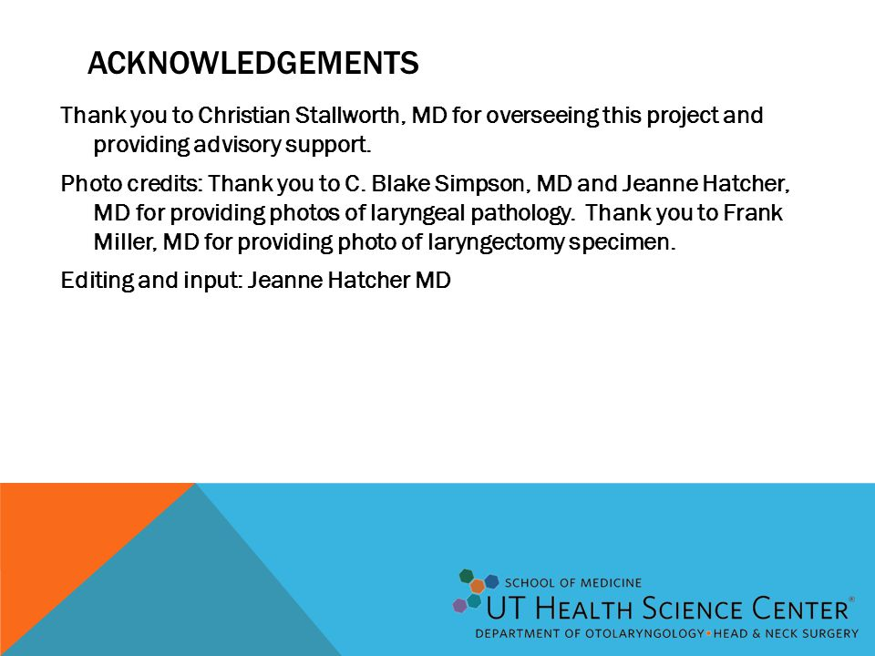 ACKNOWLEDGEMENTS Thank you to Christian Stallworth, MD for overseeing this project and providing advisory support. Photo credits: Thank you to C. Blak