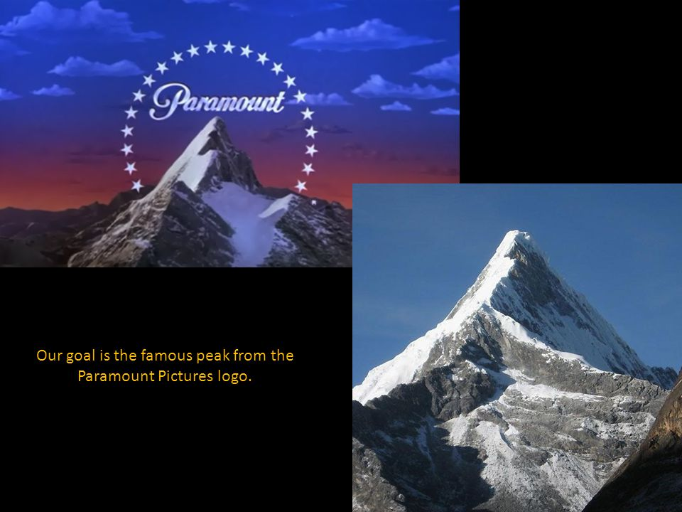Our goal is the famous peak from the Paramount Pictures logo.