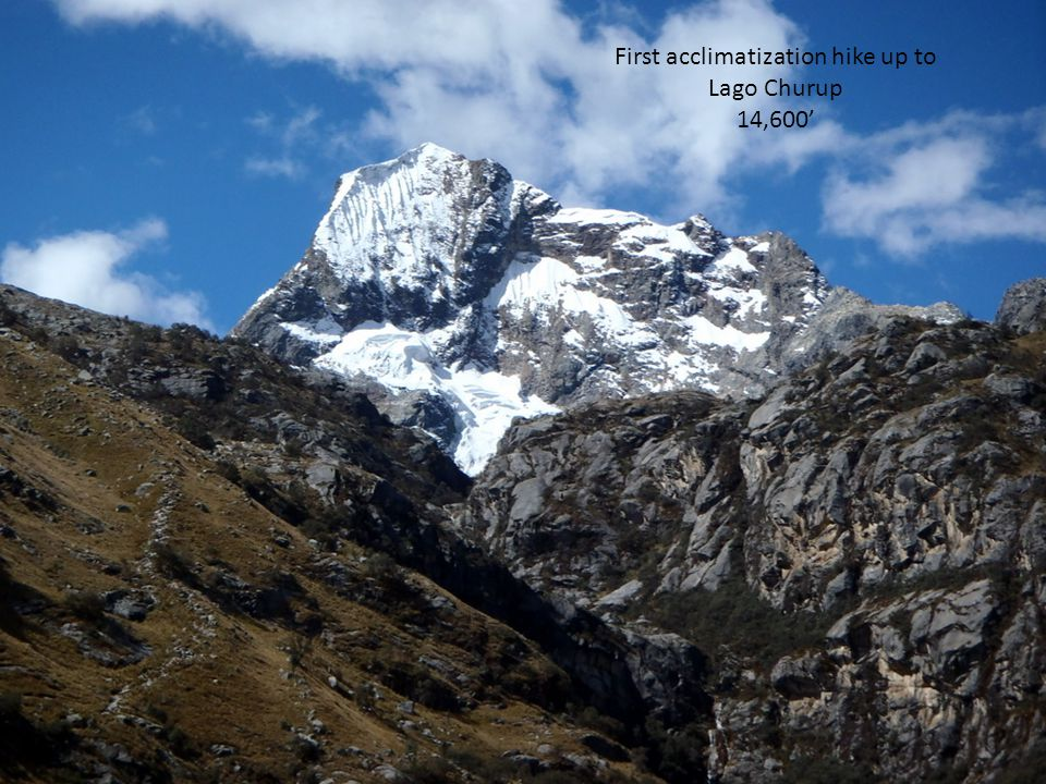 First acclimatization hike up to Lago Churup 14,600'