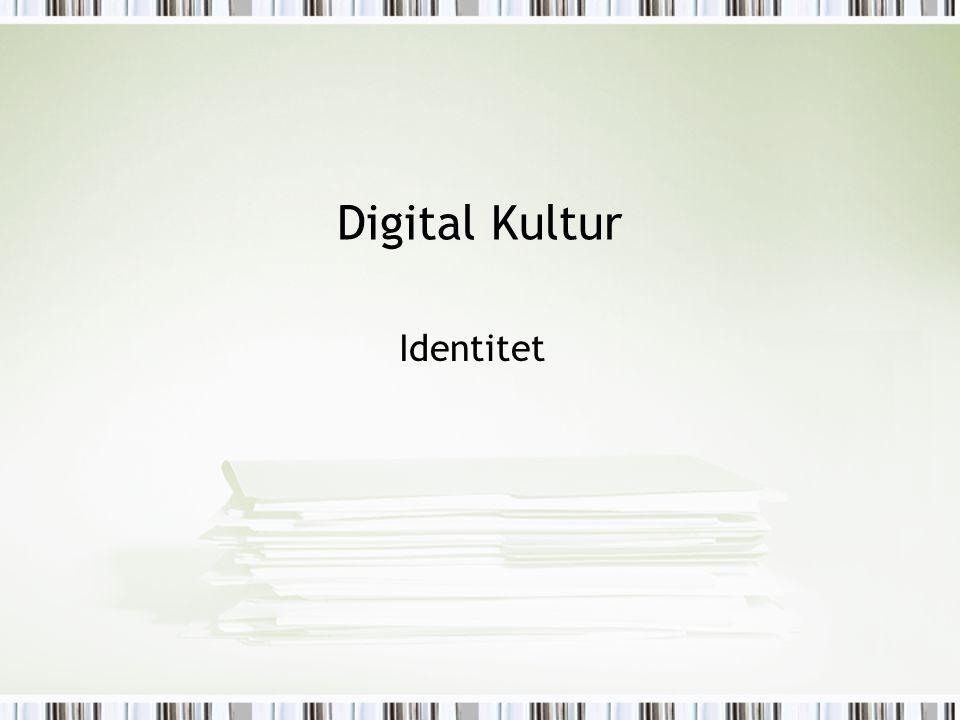 Digital Kultur Identitet