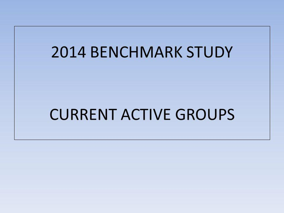 2014 BENCHMARK STUDY CURRENT ACTIVE GROUPS