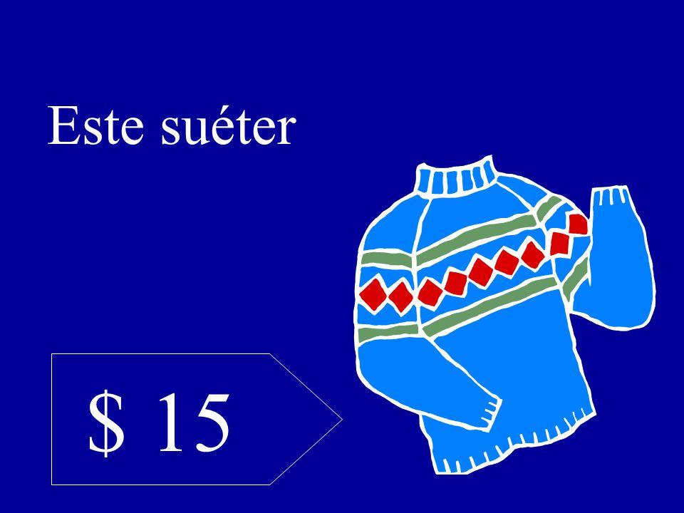 $ 15 Este suéter