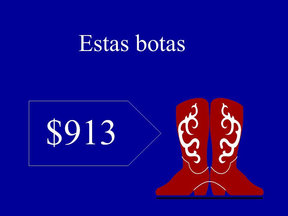 $913 Estas botas