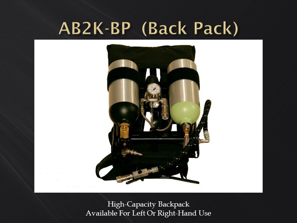 High-Capacity Backpack Available For Left Or Right-Hand Use