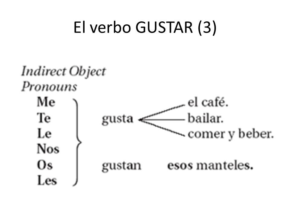 El verbo GUSTAR (3)