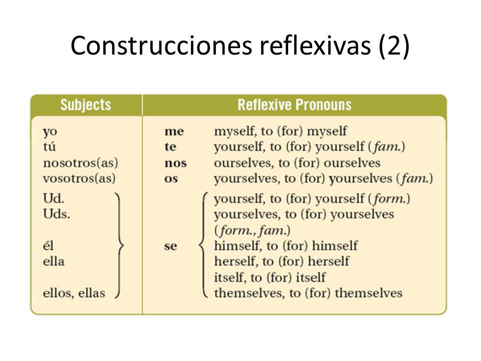 Construcciones reflexivas (2)