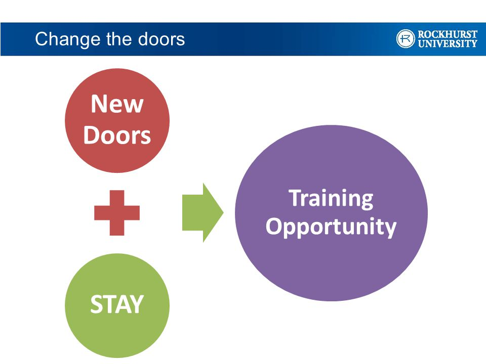 Change the doors New Doors STAY Training Opportunity
