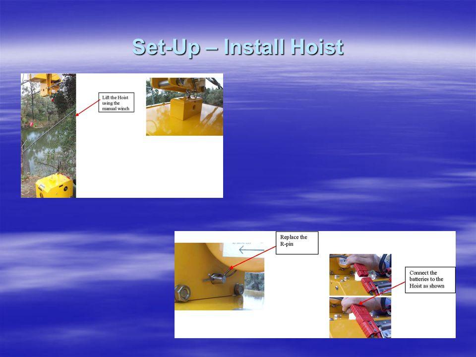 Set-Up – Install Hoist