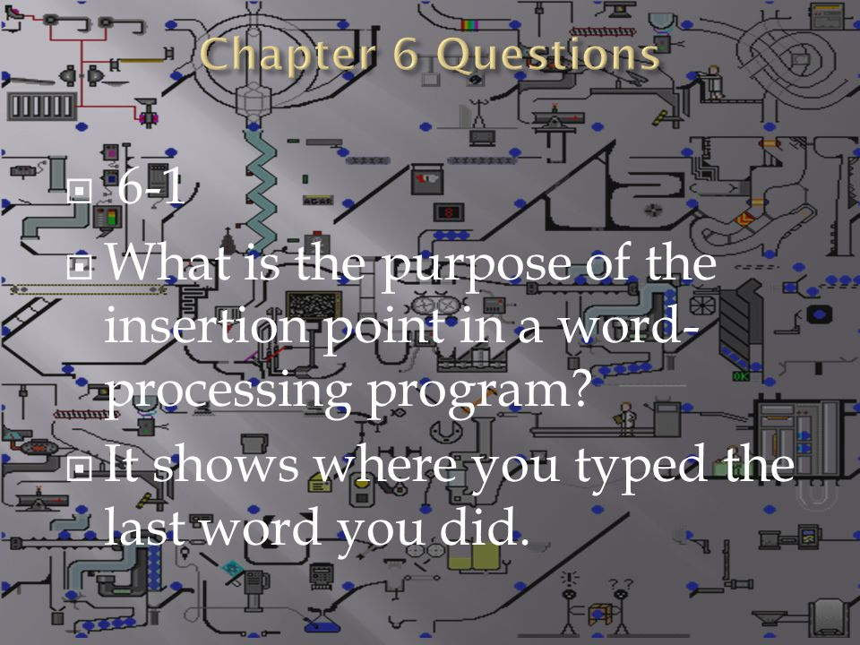  (-) 25.If you are writing a document with technical instructions, what are some of the word-processing features that you might use to make it readable.