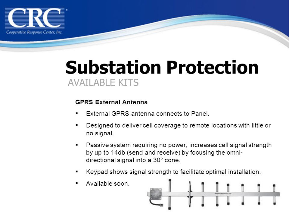 Substation Protection GPRS External Antenna  External GPRS antenna connects to Panel.
