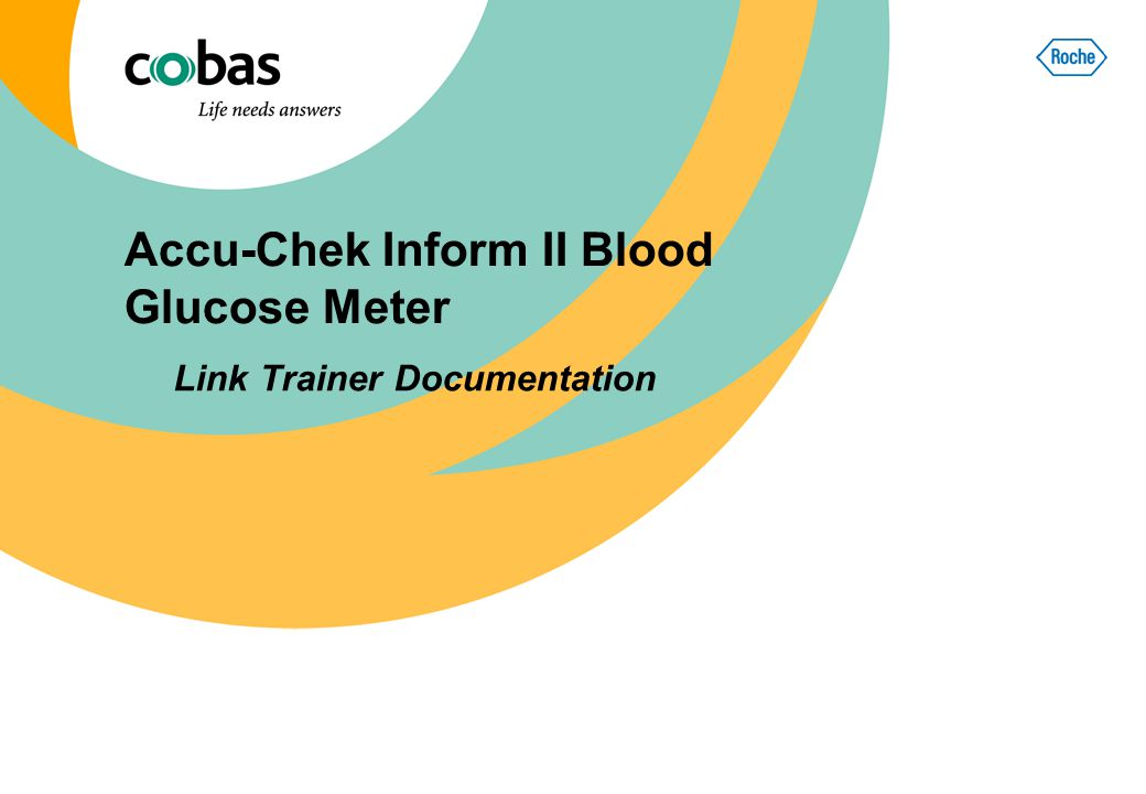 Accu-Chek Inform II Blood Glucose Meter Link Trainer Documentation
