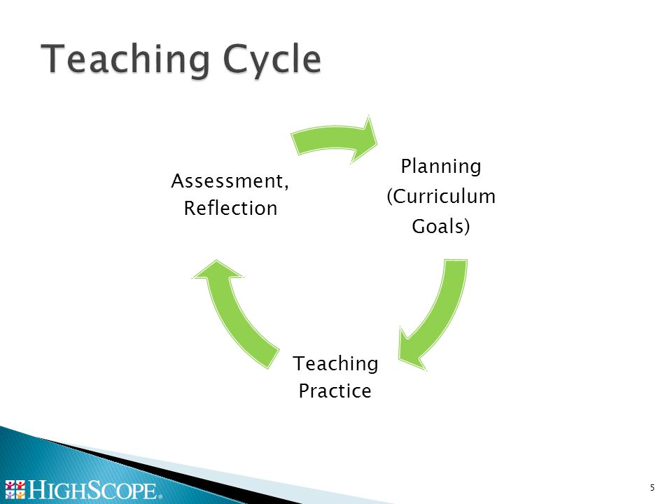 Planning (Curriculum Goals) Teaching Practice Assessment, Reflection 5