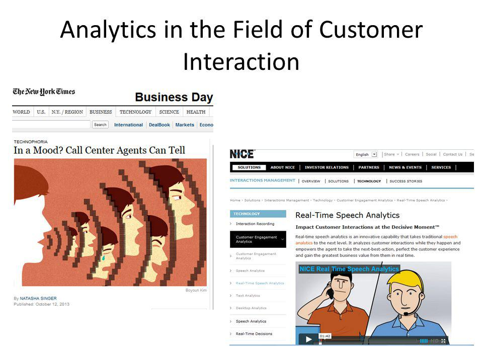 Analytics in the Field of Customer Interaction