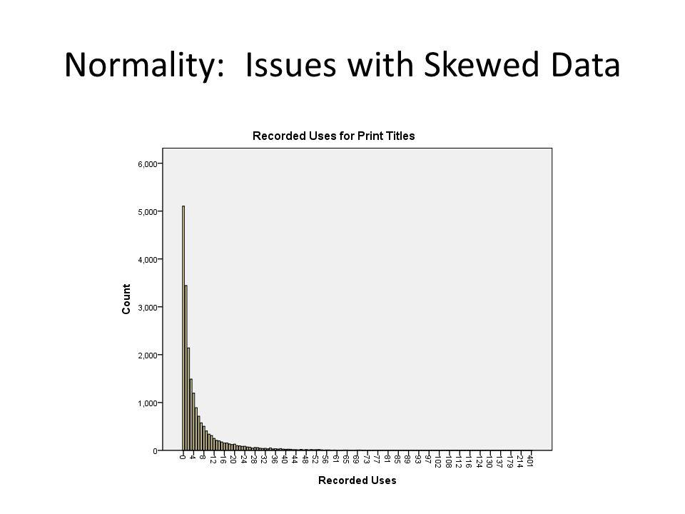 Normality: Issues with Skewed Data
