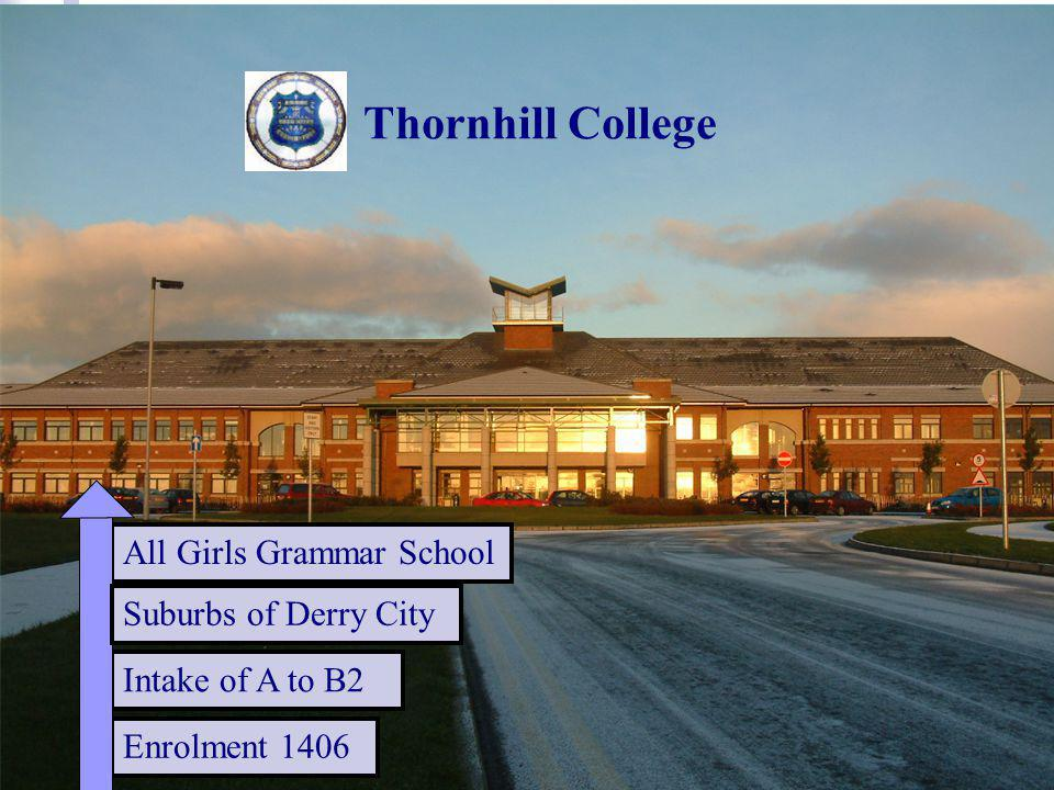 Enrolment 1406 Intake of A to B2 Thornhill College All Girls Grammar School Suburbs of Derry City