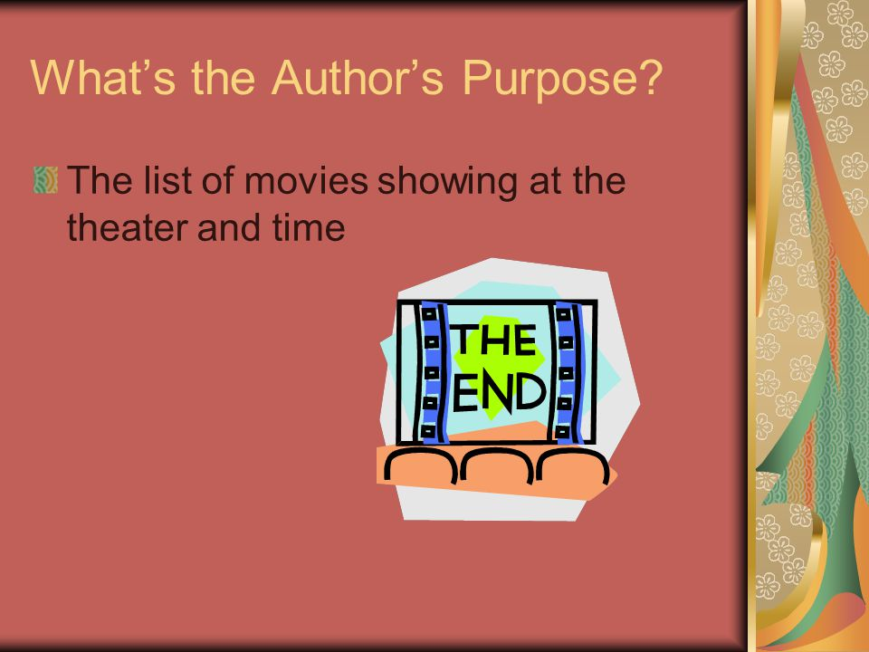 What's the Author's Purpose? The comic strips