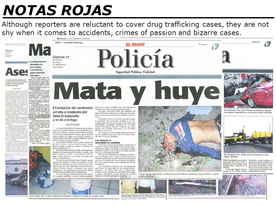_______________________________ NOTAS ROJAS The Mexican Justice System In the United States, criminal suspects are subjected to English Common Law where they are considered, Innocent, Until Proven Guilty .