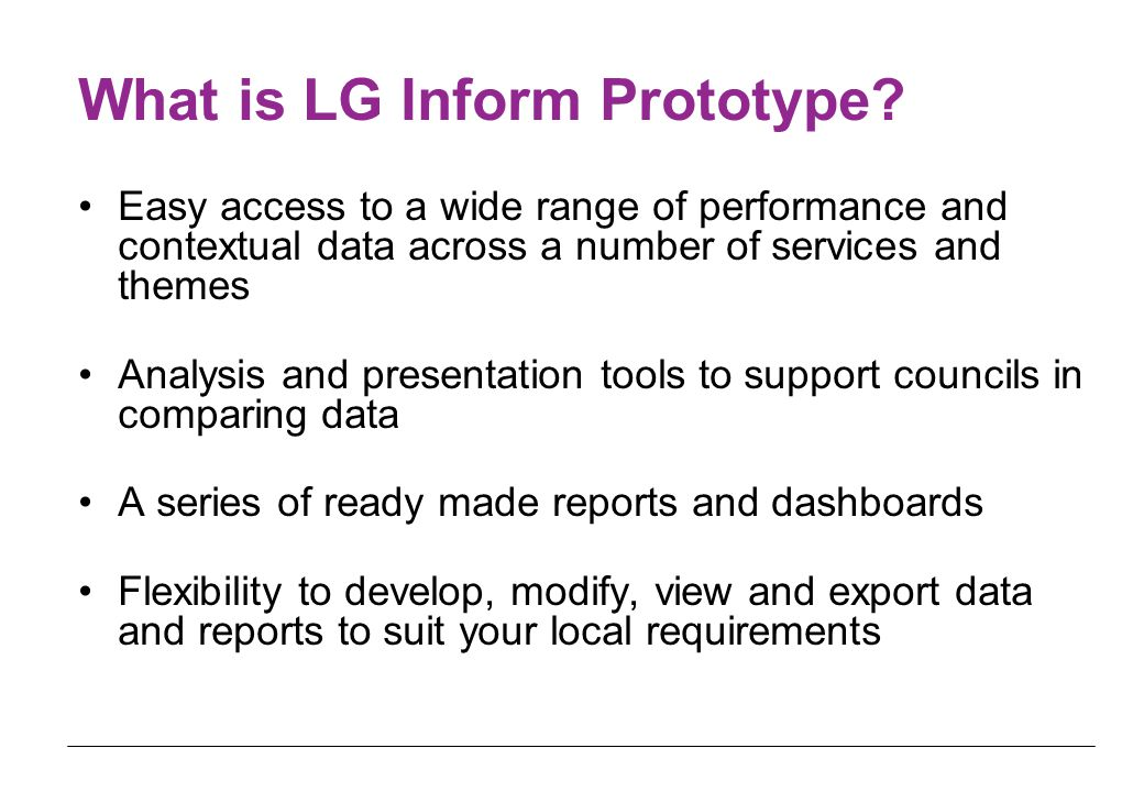 What is LG Inform Prototype.