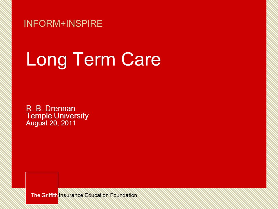 What is Long-term Care.