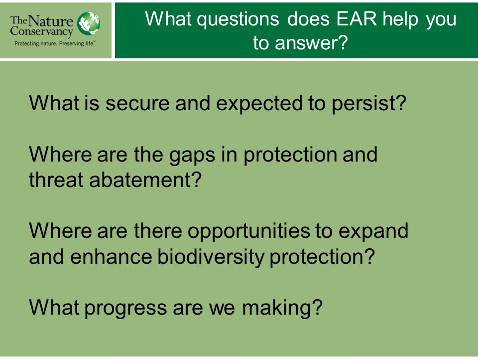 Conservation Management Status (CMS) 1.Intent: Are management objectives intended to secure biodiversity.