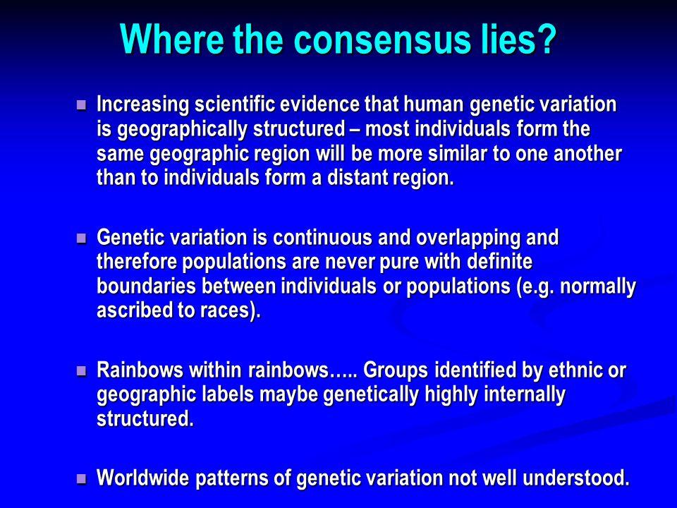 Where the consensus lies.