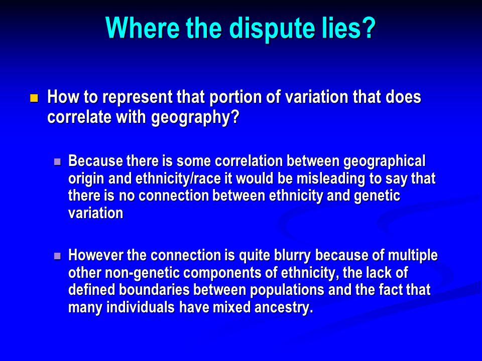 Where the dispute lies.