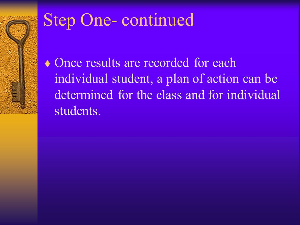 Step Two- Look at the impact of the data on classroom teaching.