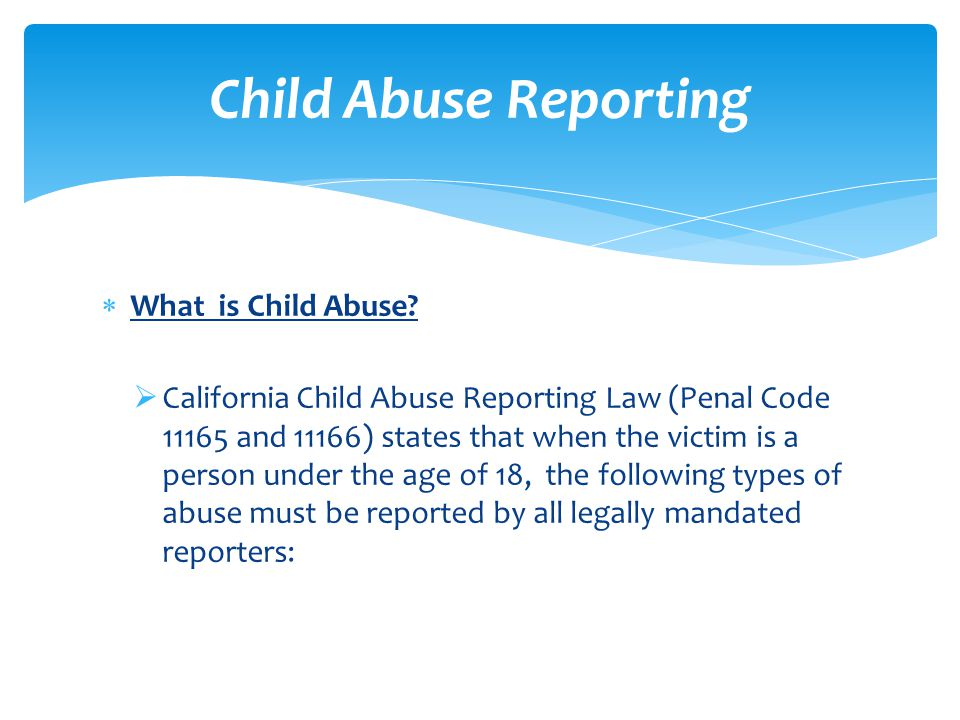  What is Child Abuse.