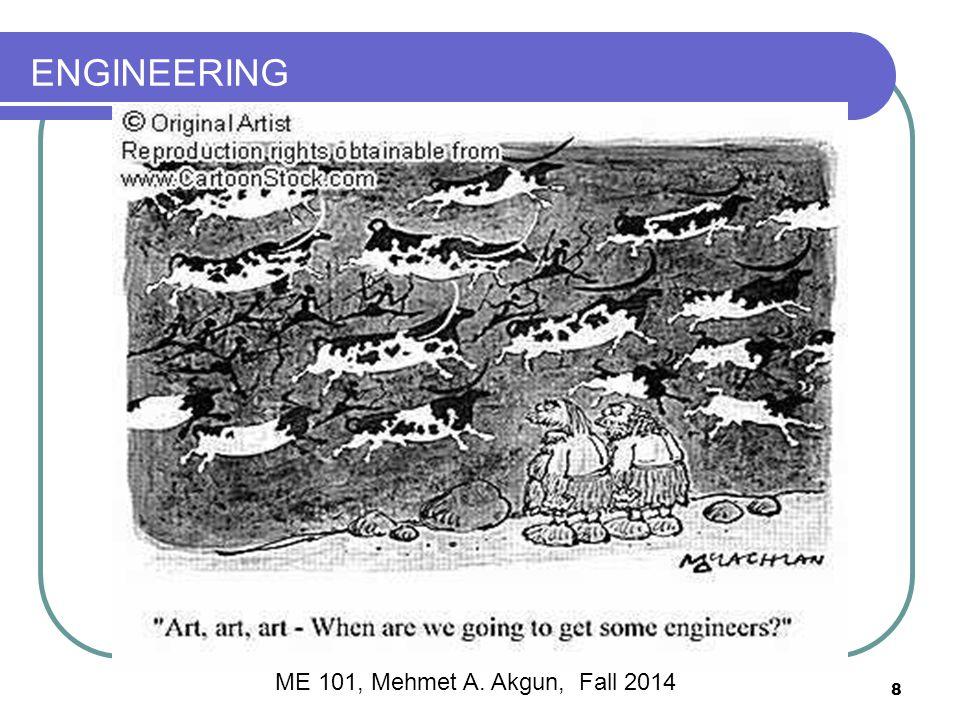 ENGINEERING 8 ME 101, Mehmet A. Akgun, Fall 2014
