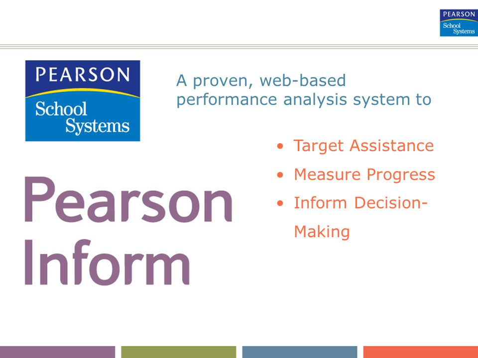 Target Assistance Measure Progress Inform Decision- Making A proven, web-based performance analysis system to