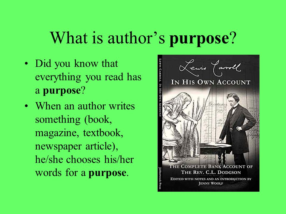 Can you identify the author's purpose.The correct answer is A, to inform.