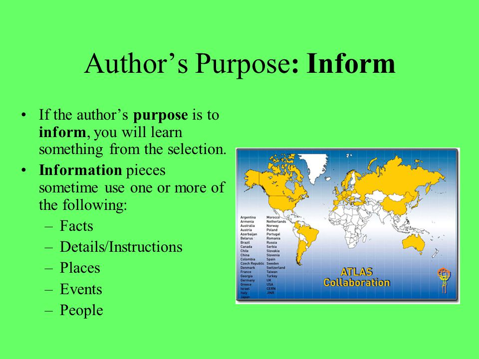 Identify the Author's Purpose Film writer and director M.