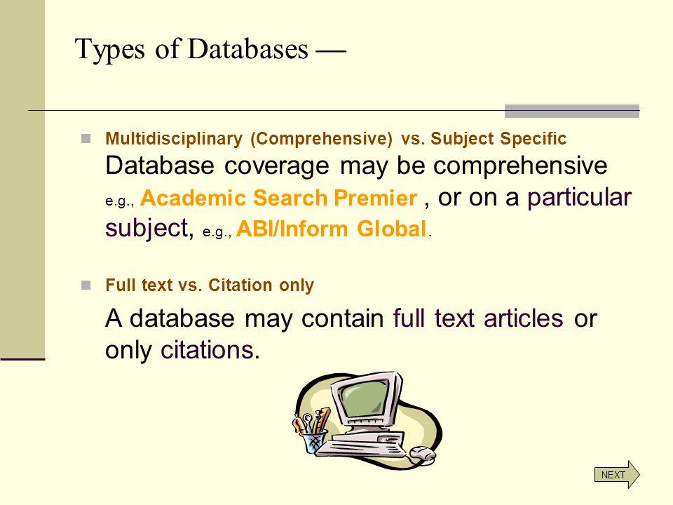 Multidisciplinary (Comprehensive) vs.