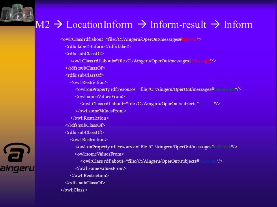 M2  LocationInform  Inform-result  Inform Inform