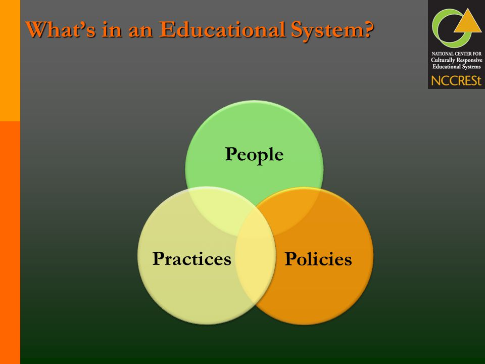 What's in an Educational System? People Policies Practices