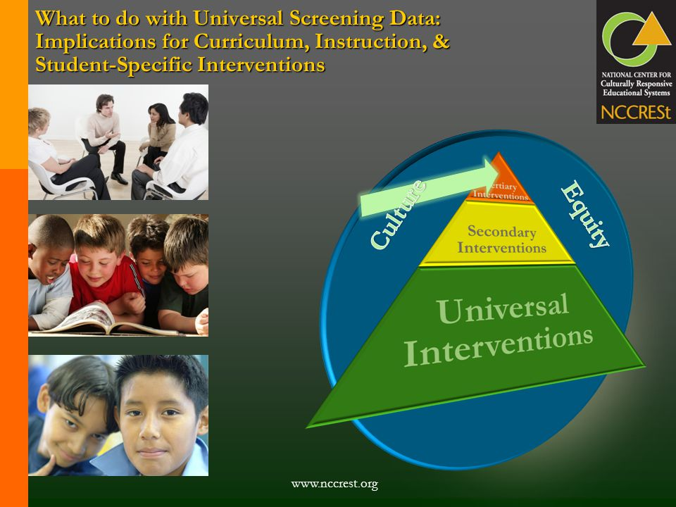 www.nccrest.org What to do with Universal Screening Data: Implications for Curriculum, Instruction, & Student-Specific Interventions