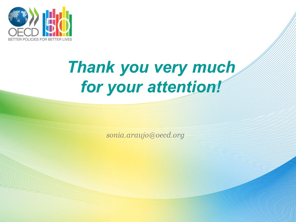 Thank you very much for your attention! sonia.araujo@oecd.org
