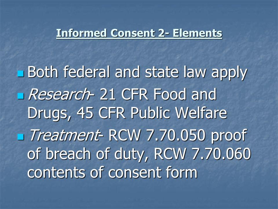 Informed Consent 5- Process Pt.reviews Novella, audiotape Pt.