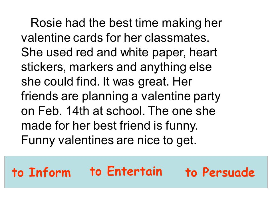 Rosie had the best time making her valentine cards for her classmates. She used red and white paper, heart stickers, markers and anything else she cou