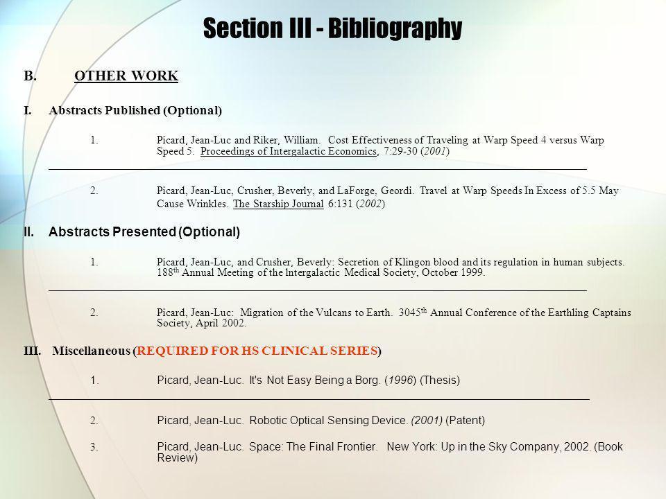 Section III - Bibliography B.