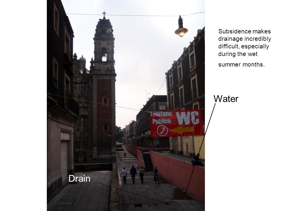 Water Drain Subsidence makes drainage incredibly difficult, especially during the wet summer months.
