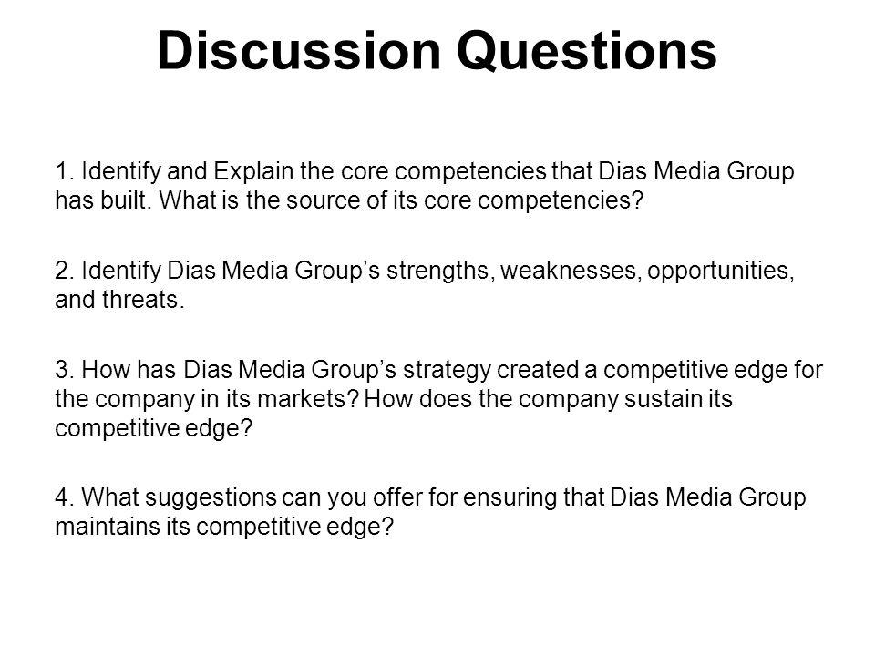 Inform * Educate * Entertain Discussion Questions 1.